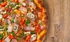 Menu pizza con antipasto e birra