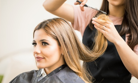 Women's or Men's Haircut, Blow-Dry, and More at Salon Royval (Up to 51% Off). Five Options Available.