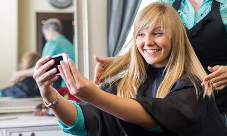 Haircut and Blowout, Balayage, Highlights, or Double-Process Color at Liquid Hair Studios (Up to 44% Off)