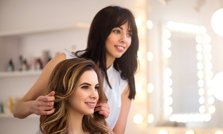 Style Cut, Treatment, Blow-Dry & Head Massage ($45) + Full-Head Colour ($75) at Aura Hair and Body Richmond (Up to $285)
