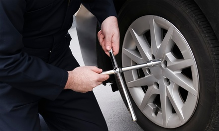 $89.99 for Brake Pads Installation with Tire Rotation at West Coast Tires and Auto Center ($280 Value)