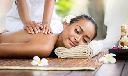 60-Minute Thai Massage ($45) with 15-Minute Foot Massage ($55) at Sansabai Herbal Thai Massage (Up to $90 Value)