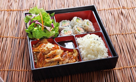 Japanese Lunch with Soft Drink $9.90 or 2 $19.80, or with Beer $12 or 2 People $24 at Takumi