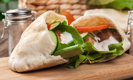 Falafel Wrap & Coffee or Soft Drink Each for One ($5), Two ($10) or Four Ppl ($20) at Falafel Nations (Up to $32 Value)