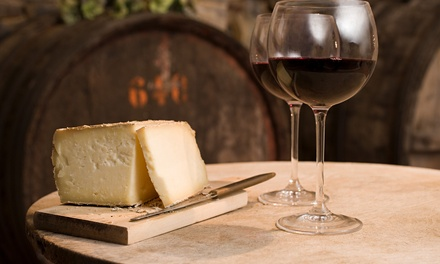 Degustazione di vino con tagliere