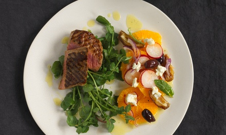 ThreeCourse Lunch or Dinner with Glass of Wine for Two or Four at Hatton Court Hotel