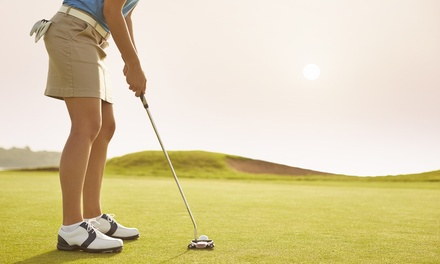 9 Holes of Golf for 1 ($10) or 2 ($19) with 45 Balls & Meal for 1 ($27) or 2 People ($49) at KDV Sport (Up to $78 Value)