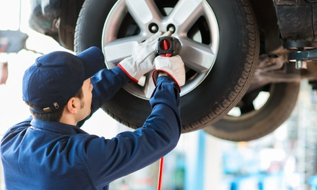 Up to 61% Off on Wheel Alignment / Balancing - Car at Gasoline Alley Garage