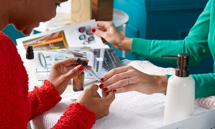 Shellac Manicure with Optional Spa Pedicure or Full Set of Acrylic Nails at United Hair & Nails (Up to 37% Off)