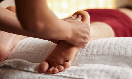 Reflexology with Foot Scrub or Massage with Hot Stones at Relax Massage (Up to 51% Off). 4 Options Available.