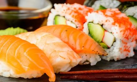 Menú japonés para 2 o 4 personas con entrante, hasta 52 piezas de sushi y bebida desde 24,95 € Restaurante Oishi