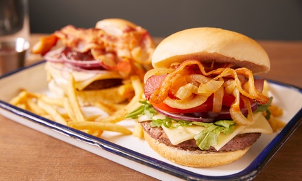 Burger Meal with Beer or Soft Drink for Two or Four at Ambience