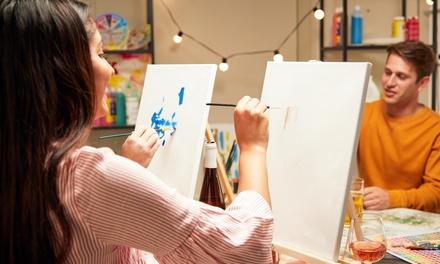 3 Std. Art-Party oder 5 bis 6 Std. Ölmalerei-Workshop für 1 bis 2 Personen im Artstudio FFM (bis zu 51% sparen*)