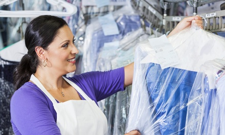 Cleaning and Laundry Services from Dry App (Up to 60% Off). Three Options Available.