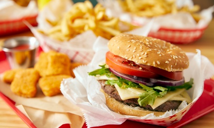 6oz Burger Meal with Drinks for Two or Four at Nass Fast Foods