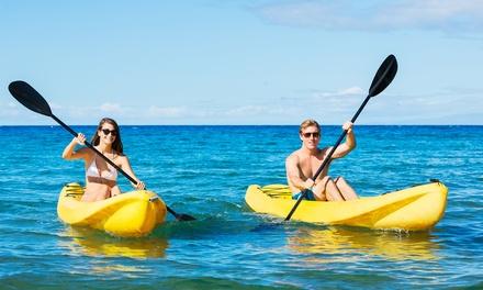 1 o 2 horas de kayak doble para dos personas desde 19,99 € en Kayak Fenals