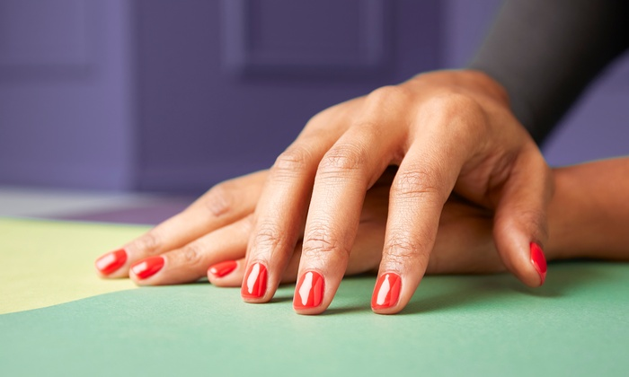 SNS Dip Full Set and Pedicure - Solar Nails | Groupon