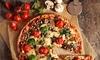 Pizza oder Pasta-Gericht
