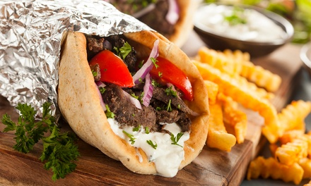 Food and Drink for Takeout at Mediterranean Grill House (Up to 25% Off). Two Options Available.
