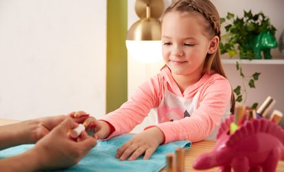 Princess Manicure for Daughter and Gel Manicure for Mother at Zoe's Nail Art and Beauty, Three Locations (50% Off)