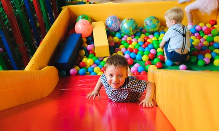 AllDay Indoor Playcentre Entry for One $8 or Two Children $16 at Cream House Premium Kid's Cafe Up to $24 Value