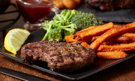 12oz Steak with Chips, Salad and Drink for One, Two or Four at The Steak Out
