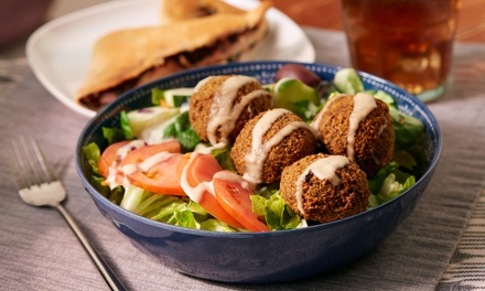 Falafel, Fries, and Optional Drinks at Amsterdam Falafel Shop (Up to 40% Off). Two Options Available.