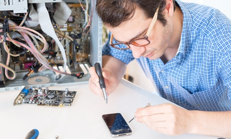 iPhone Screen Repair or Back Glass Replacement at SD Fix It (Up to 75% Off)