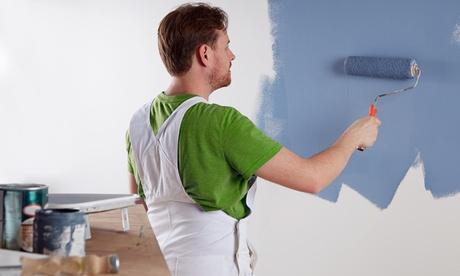 Servicio de 2 capas de pintura en paredes o techos para inmueble de hasta 50, 75 o 100 m² con Maxidclean Madrid