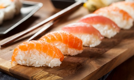 Sushi: Five $20, Ten $39 or 15 Plates $58 at Moga Up to $118.50 Value