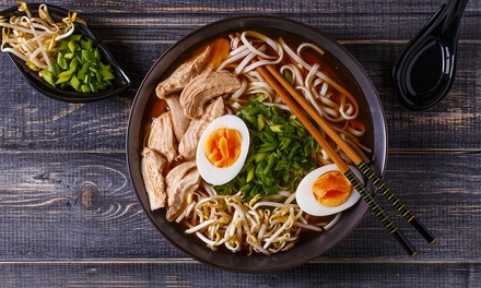 SixCourse Japanese Banquet with Green Tea for Two $30 or Four People $59 at Kawa Sushi Up to $114.10 Value