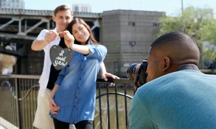 Séance photo extérieur à Paris avec 3, 8 ou 25 photos pour jeunes mariés dès 39,90 € avec Eddy Abimbi Photographe