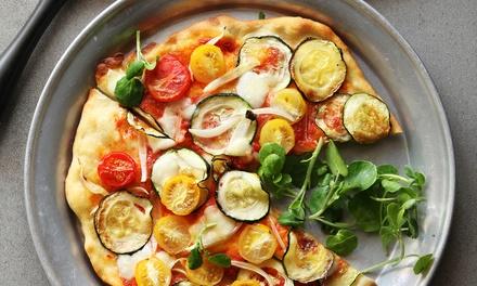 Menú para 1, 2 o 4 personas con principal, postre y bebida en Jef Coffee & Pizza (hasta 55% de descuento)