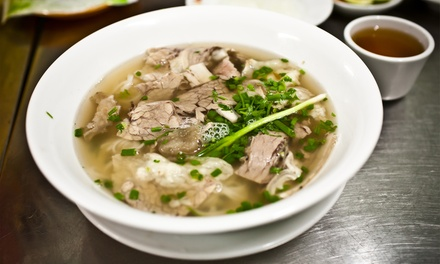Pho with Soft Drink $9, 2 $18 or 4 People $36 at Ha Long Bay Sa Vietnamese Restaurant Up to $72 Value
