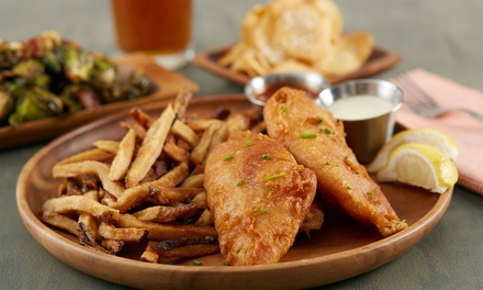 Fish and Chips with Wine for Two or Four at Cook's Bar & Kitchen