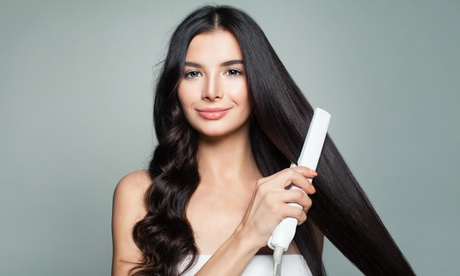 Smoothing Keratin Treatment with Optional Haircut at Hair by Homa (Up to 71% Off)