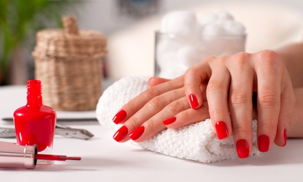 SNS or Shellac Manicure or Shellac Pedicure $25, or Shellac ManiPedi $39 at Glamshell Beauty Spa Up to $75 Value