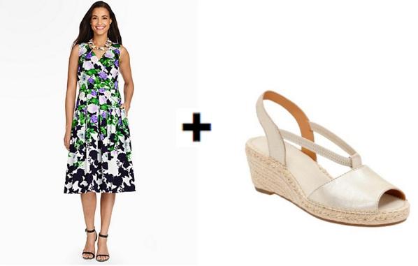 O, The Oprah Winfrey Collection The Dress from Talbots and Petrina Lulu sandals from Clarks
