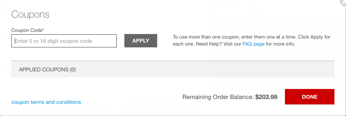This is where you enter your Staples coupon code