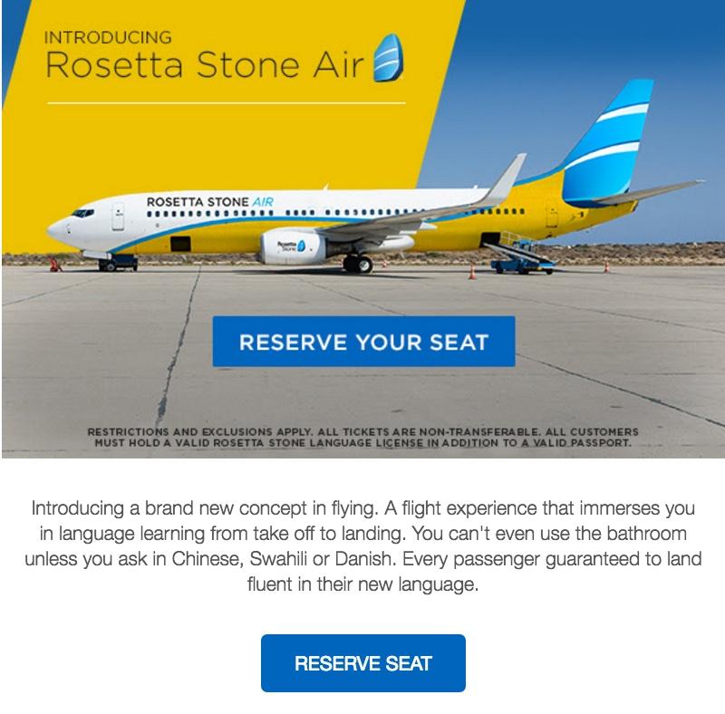 Rosetta Stone April Fools Day