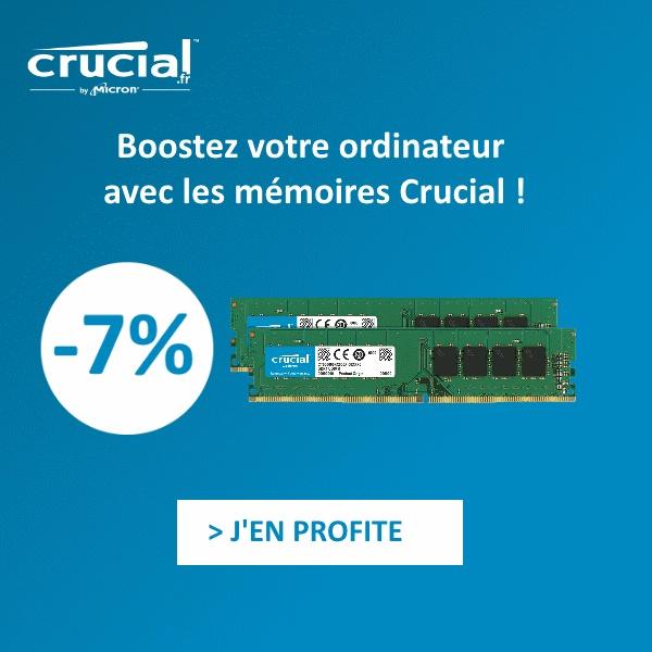 -7% sur les mémoires Crucial
