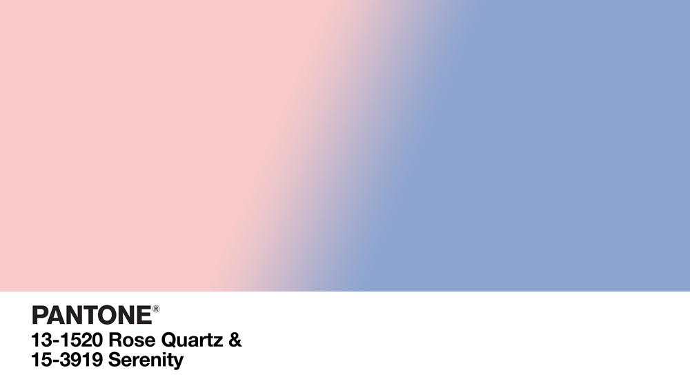 Pantone colors rose quartz & Pantone serenity