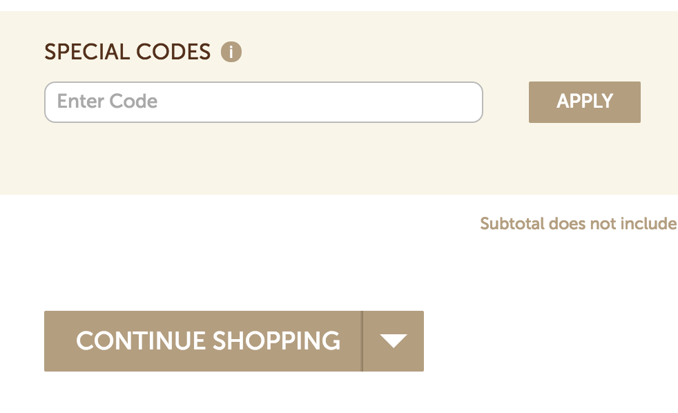 This is where you enter your Shari's Berries coupon code