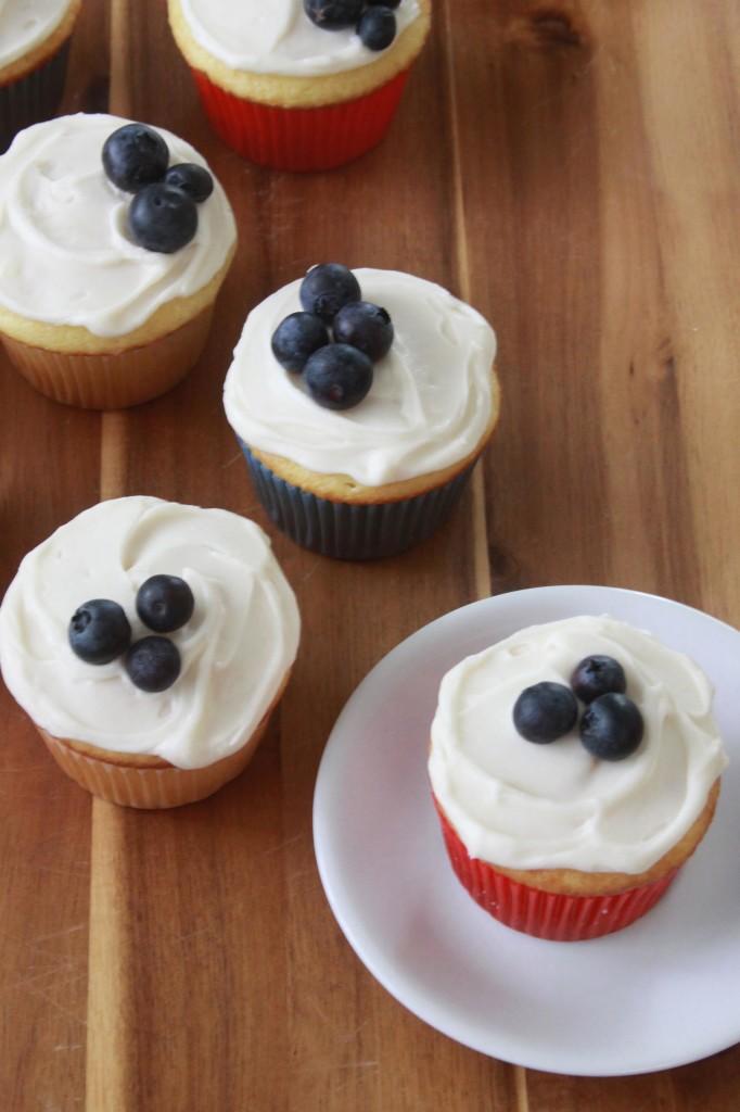 Sour Cream Cupcakes 4th of July Dessert Recipe
