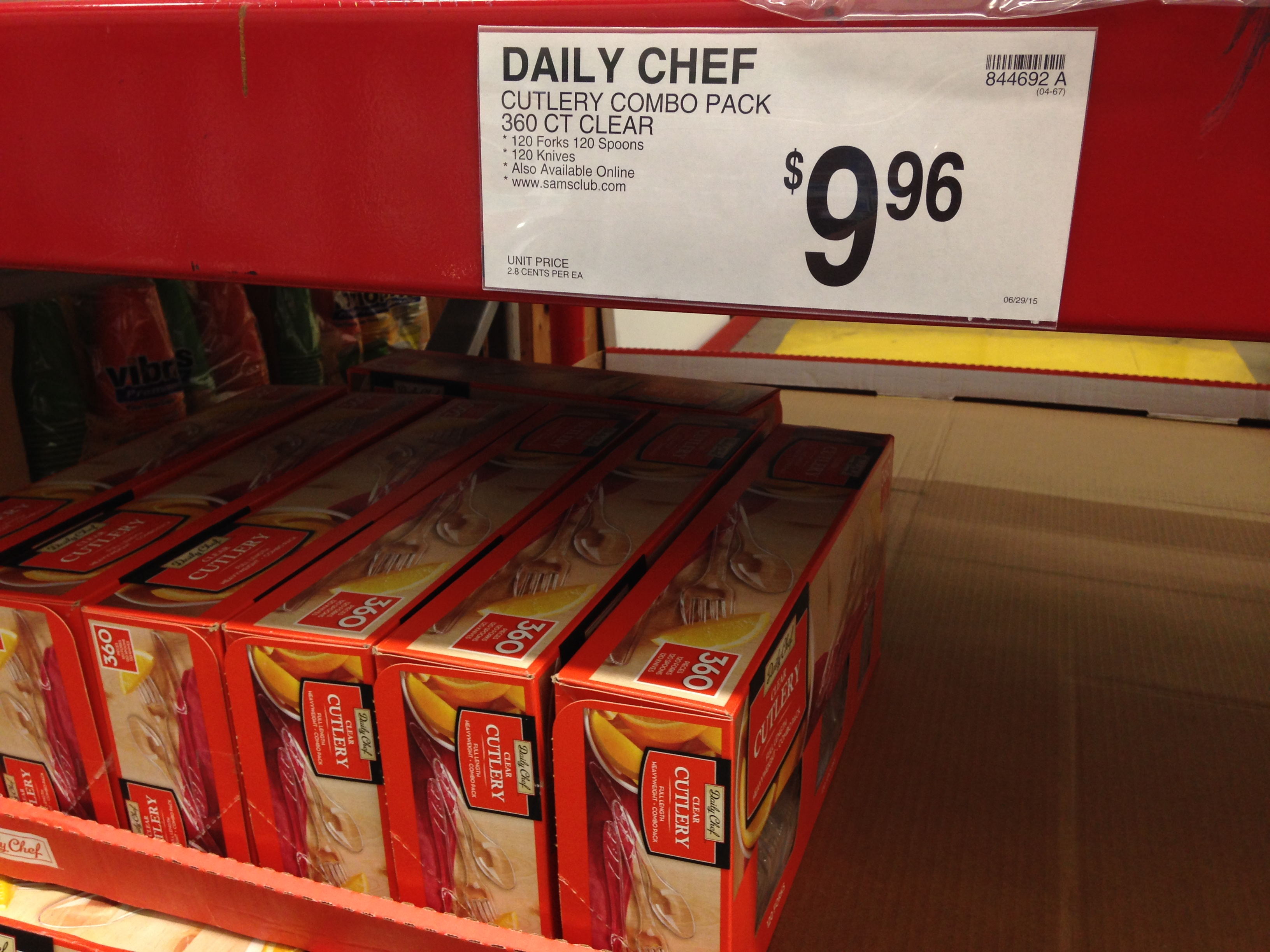 Sam's Club Daily Chef disposable cutlery
