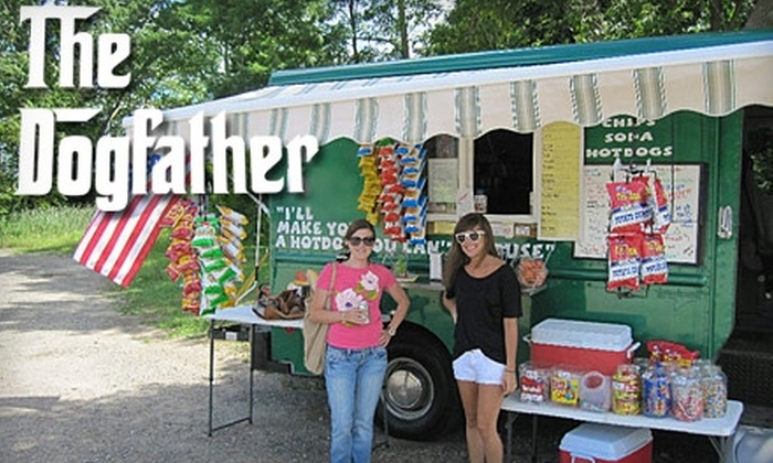 The Dogfather - Forest Grove: $5 for $10 Worth of Specialty Hot Dogs and Drinks at The Dogfather