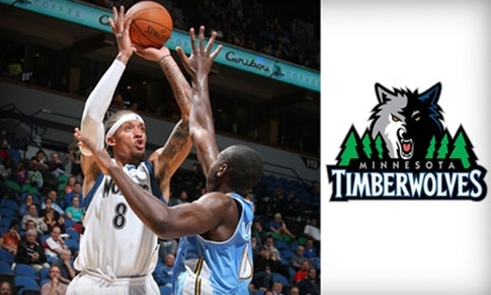 Minnesota Timberwolves - Warehouse District: $30 for Ticket to Minnesota Timberwolves vs. Lakers or Celtics, Plus Ticket to a Game of Choice and Season Yearbook ($60 Value)