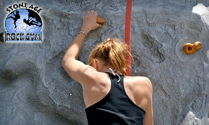 Stone Age Rock Gym - Waddell: $30 for One All-Day Climbing Pass, Gear, and Introductory Lesson at Stone Age Rock Gym in Manchester ($62.75 Value)