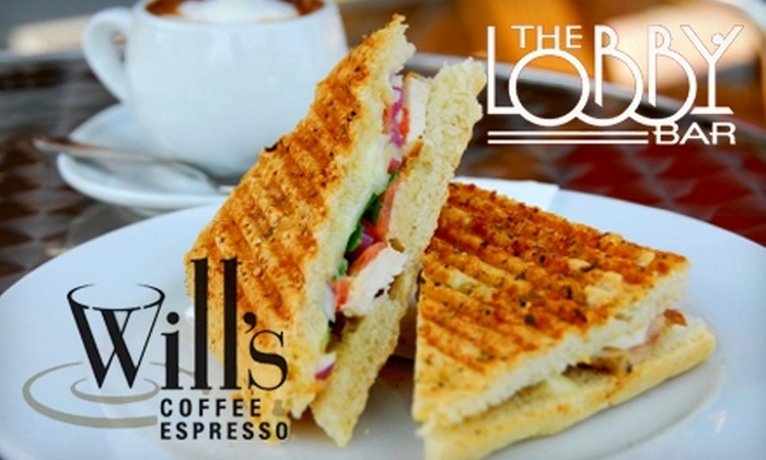 Will's Coffee & Espresso and The Lobby Bar - Douglas Edgemere: $10 for $21 Worth of Coffee and Small Plates at Will's Coffee & Espresso and at The Lobby Bar
