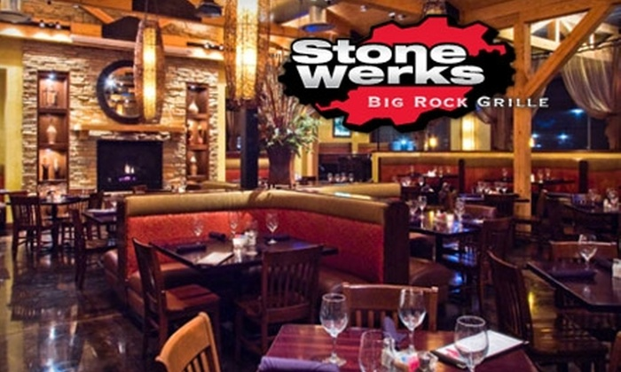 Stone Werks Big Rock Grille - Multiple Locations: $15 for $30 Worth of Contemporary American Fare at Stone Werks Big Rock Grille